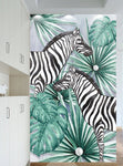 3D Zebra Tropical Leaves Wall Murals 257 - Jessartdecoration