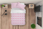 3D Pink Cloud Alram Clock Quilt Cover Set Bedding Set Duvet Cover Pillowcases LXL 144