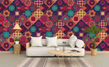 3D Dark Red Floral Pattern Wall Mural Wallpaper 66
