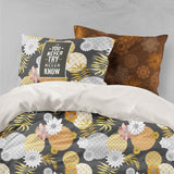 3D Floral Leaves Quilt Cover Set Bedding Set Pillowcases 19