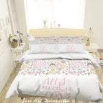 3D Cartoon Animal Flower Quilt Cover Set Bedding Set Pillowcases 65