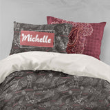 3D Stick Figure Grape Leaves Quilt Cover Set Bedding Set Pillowcases 21