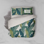 3D Green Leaves Quilt Cover Set Bedding Set Pillowcases 05