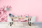 3D Pink Background Tree Shadow Wall Mural Wallpaper 46