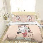 3D Cartoon Goldfish Red Wine Quilt Cover Set Bedding Set Pillowcases 80