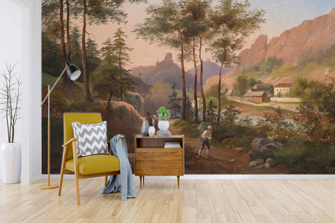 3D Landscape Painting Wall Mural Wallpaper   1