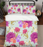 3D Purple Flowers Quilt Cover Set Bedding Set Pillowcases 127