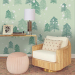 3D Green Pine Forest Wall Mural Wallpaper 48