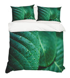 3D Green Leaves Quilt Cover Set Bedding Set Pillowcases 67