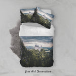 3D Cloudy Sky Mountain Castle Floral Lake Quilt Cover Set Bedding Set Duvet Cover Pillowcases LXL 235