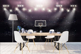 3D basketball court light wall mural wallpaper 38