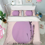 3D Purple Circle Quilt Cover Set Bedding Set Pillowcases 42