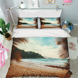 3D Beach Sea Quilt Cover Set Bedding Set Pillowcases 24