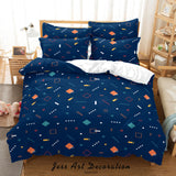 3D Abstract Geometric Pattern Quilt Cover Set Bedding Set Duvet Cover Pillowcases 90