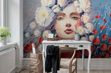 3D Oil Painting Beauty Floral Wall Mural Wallpaper 24