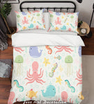 3D Colorful Marine Animal Pattern Quilt Cover Set Bedding Set Pillowcases  9