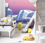 3D Sky Glacier Polar Bear Wall Mural Wallpaper 50
