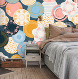 3D Plate Circle Wall Mural Wallpaper 52