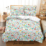 3D Hand Drawn Floral Leaf Pattern Quilt Cover Set Bedding Set Duvet Cover Pillowcases 51