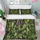 3D Green Leaves Quilt Cover Set Bedding Set Pillowcases 99