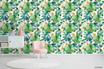 3D Oil Painting White Floral Green Leaves Plant Wall Mural Wallpaper LXL 1248