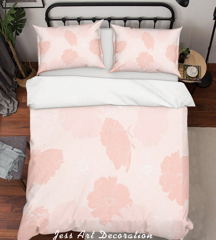 3D Pink Background Quilt Cover Set Bedding Set Pillowcases  83