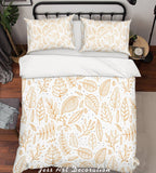 3D Yellow Leaves Quilt Cover Set Bedding Set Pillowcases 217