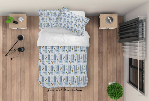 3D Cartoon Blue Bunny Quilt Cover Set Bedding Set Duvet Cover Pillowcases LXL 168