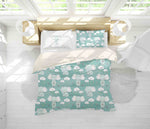 3D Green Elephant Quilt Cover Set Bedding Set Pillowcases 78