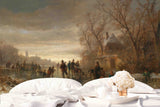 3D Outdoor Winter Oil Painting Wall Mural Wallpaper 18