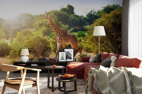 3D Giraffe Savanna Wall Mural Wallpaper 19