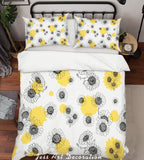 3D Grey Flowers Quilt Cover Set Bedding Set Pillowcases 112