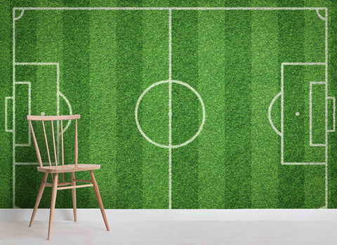 3D Green Football Field Wall Mural Wallpaper 36