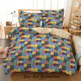 3D Abstract Colorful Geometric Pattern Quilt Cover Set Bedding Set Duvet Cover Pillowcases 73