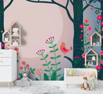 3D Tree Floral Bird Wall Mural Wallpaper SF31