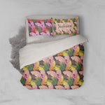 3D Pink Leaves Quilt Cover Set Bedding Set Pillowcases 89