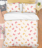 3D Hand Drawn Animal Color Butterfly Quilt Cover Set Bedding Set Duvet Cover Pillowcases 1121 LQH