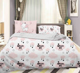 3D Pink Elephant Clouds Star Quilt Cover Set Bedding Set Pillowcases 84