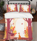 3D Color Cartoon Forest Animals Quilt Cover Set Bedding Set Pillowcases  63