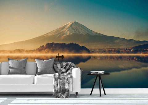 3D Mountain Lake Wall Mural Wallpaper 61