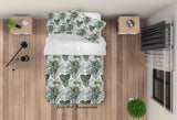 3D Green Leaves Plant Quilt Cover Set Bedding Set Duvet Cover Pillowcases LXL 275