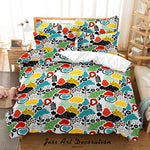 3D Abstract Color Leaf Pattern Quilt Cover Set Bedding Set Duvet Cover Pillowcases 48