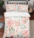 3D Pink Flowers Quilt Cover Set Bedding Set Pillowcases 231