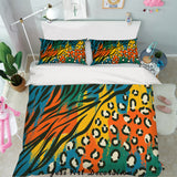 3D Abstract Colorful Pattern Quilt Cover Set Bedding Set Pillowcases 74