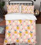 3D Orange Pink Quilt Cover Set Bedding Set Pillowcases 108
