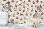 Cartoon Active Monkey Animal Wall Mural Wallpaper LXL