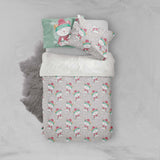 3D Grey Cat Kitty Quilt Cover Set Bedding Set Pillowcases 48