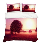 3D Sunset Grassland Quilt Cover Set Bedding Set Pillowcases 100