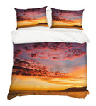 3D Sunset Grassland Quilt Cover Set Bedding Set Pillowcases 80