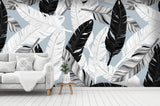 3D feather wall mural wallpaper 8